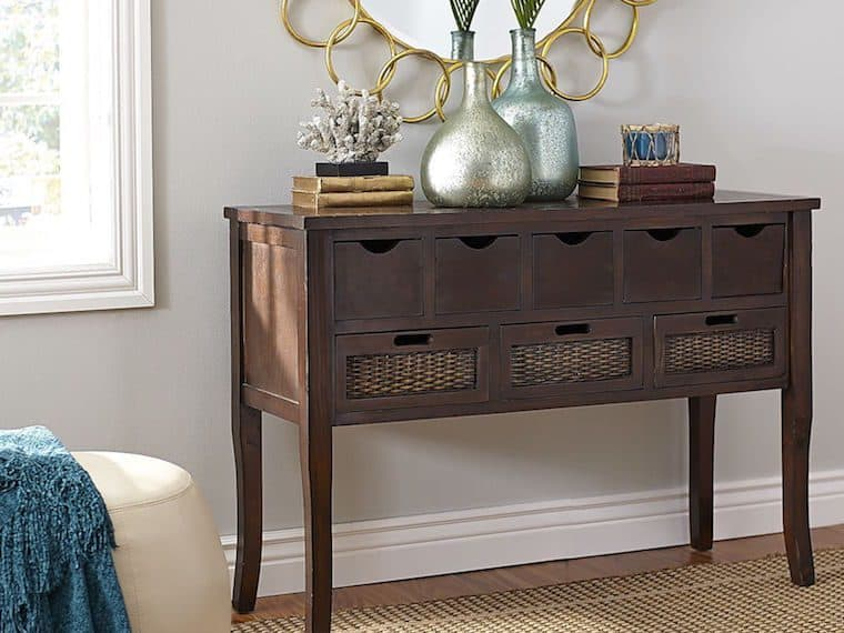 Entryway console tables