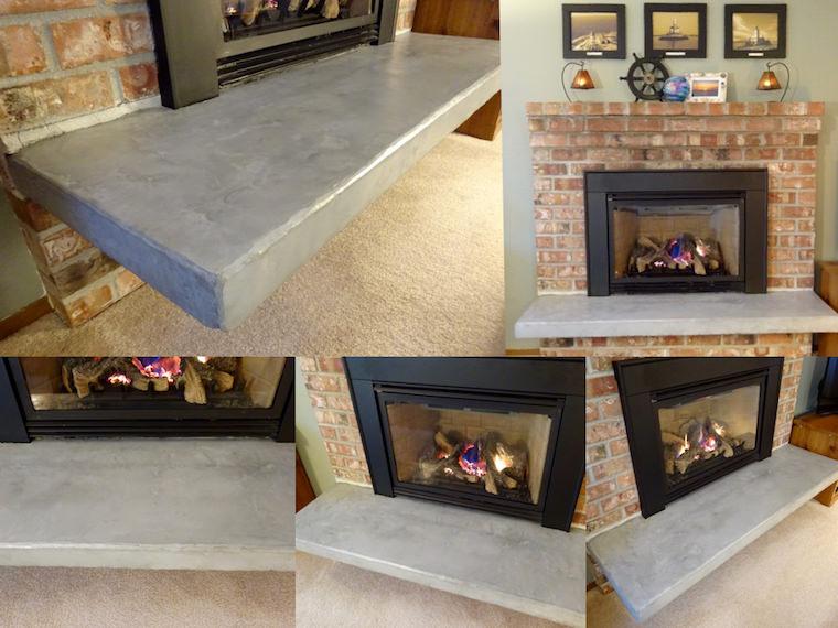 DIY concrete hearth update