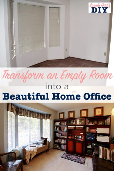 Transform an empty room into a beautiful home office