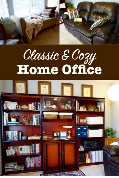 Classic and cozy home office