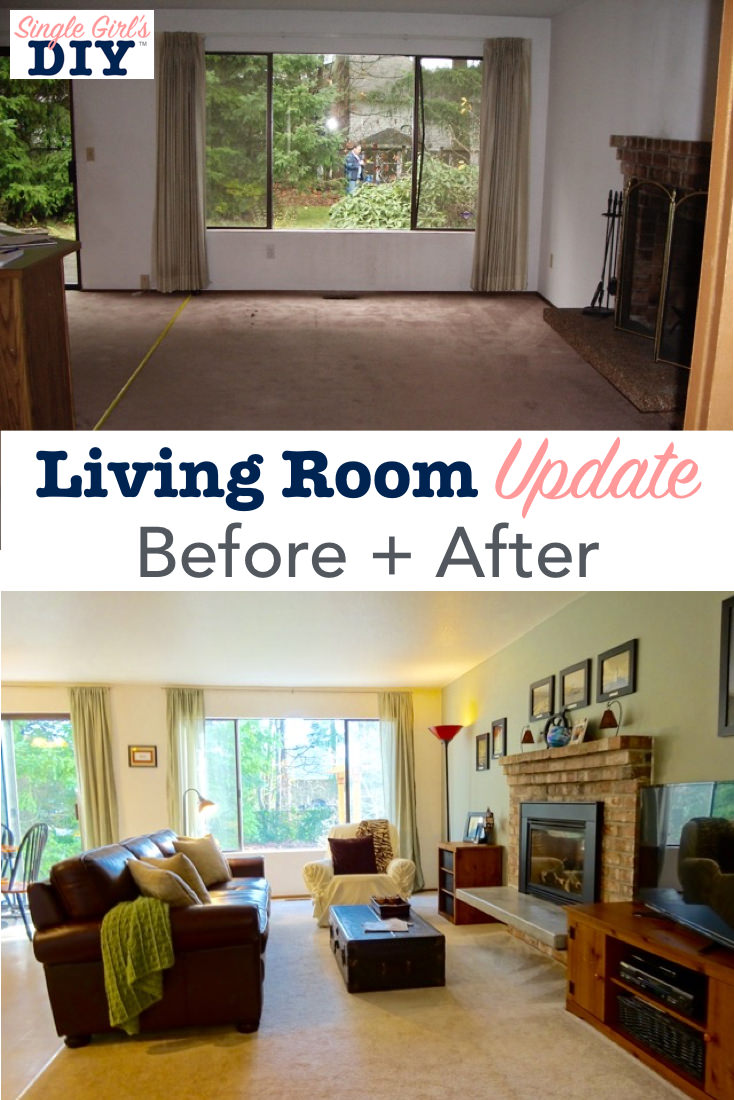Before and after living room update