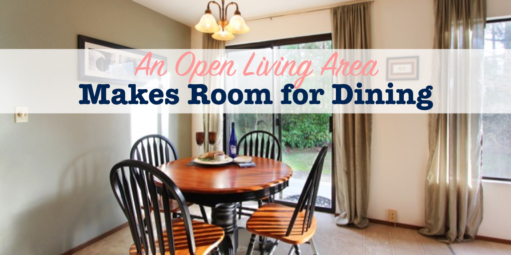 An open living area makes room for dining