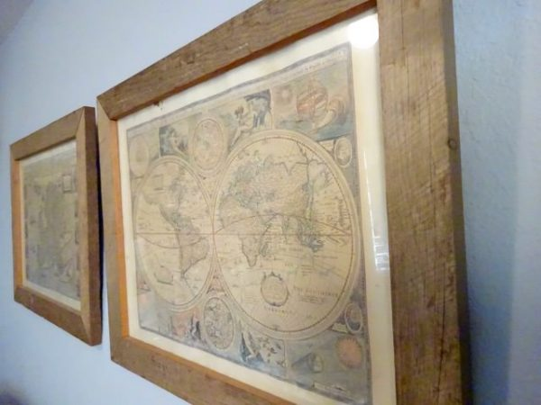 Map art in a library
