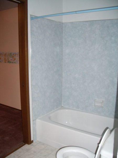old shower tub surround walls