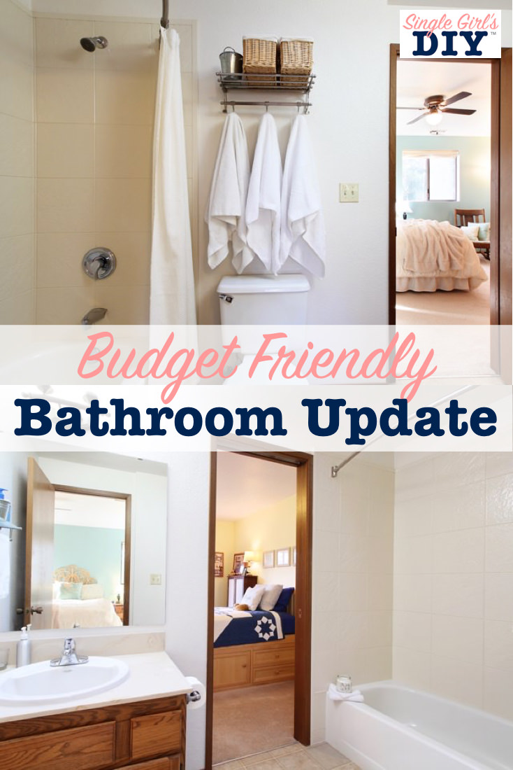 Budget friendly bathroom update