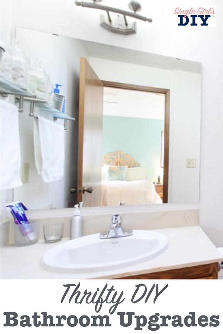 Thrifty DIY bathroom upgrades