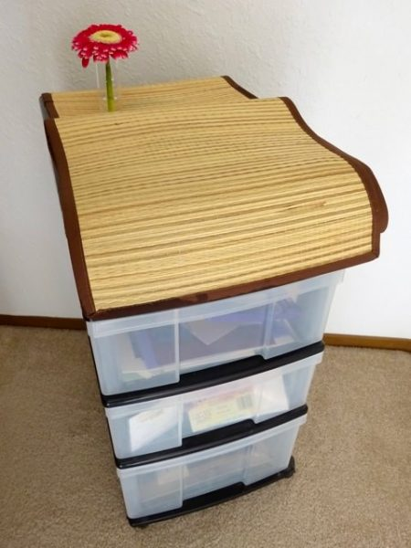 Cover plastic storage bins
