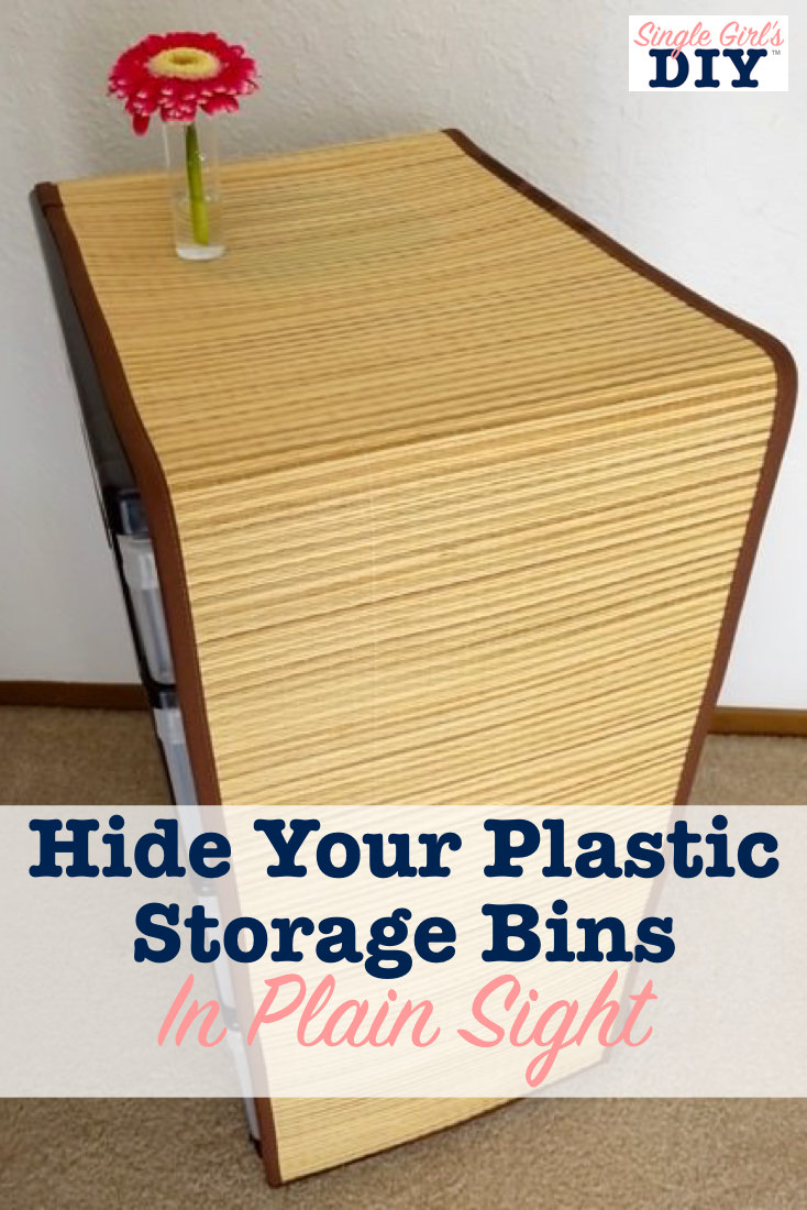Hide plastic storage drawers