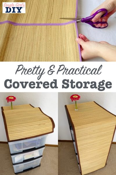 Pretty cover for storage drawers