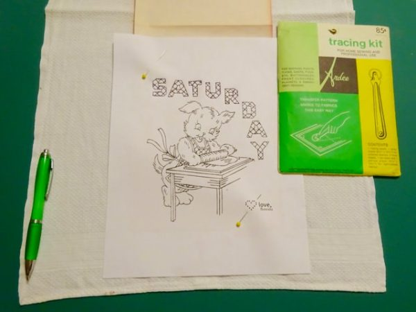 Embroidery pattern transfer