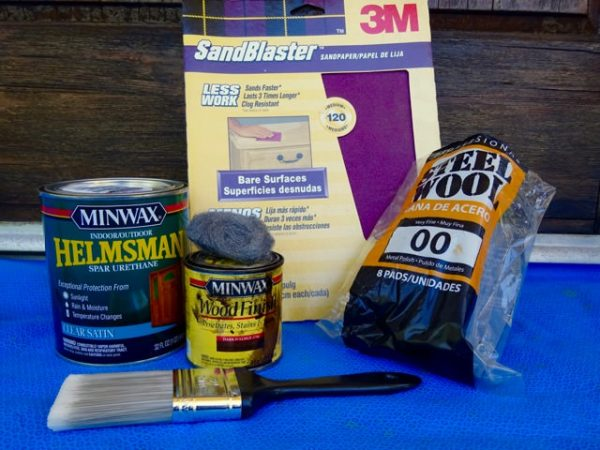 Materials to stain a wood door