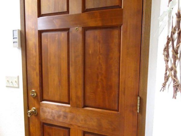 Condition a wood door