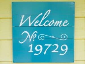 DIY address number sign