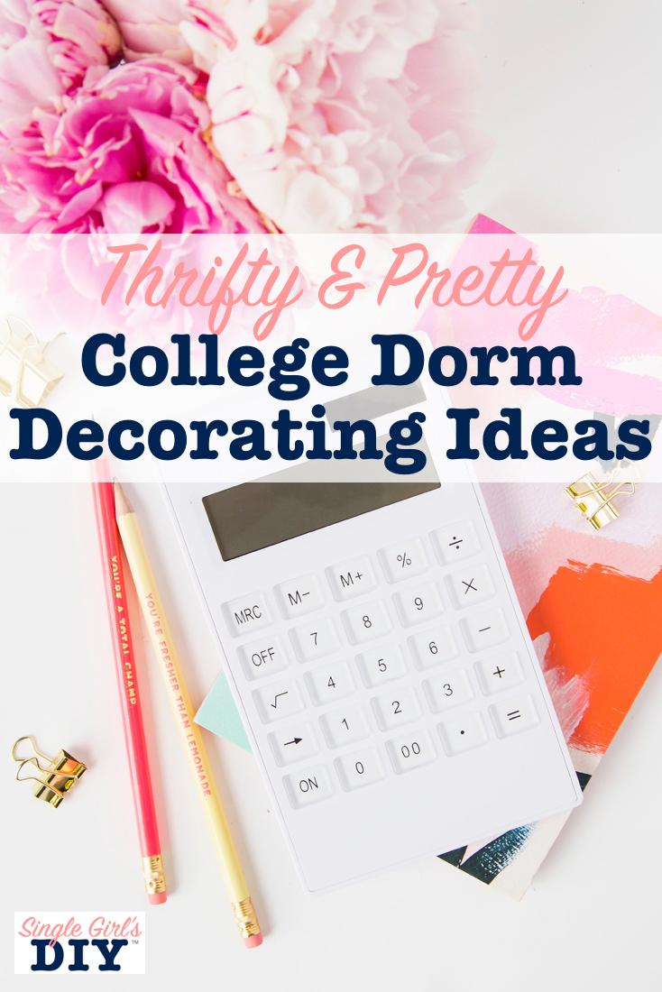 College dorm decorating ideas