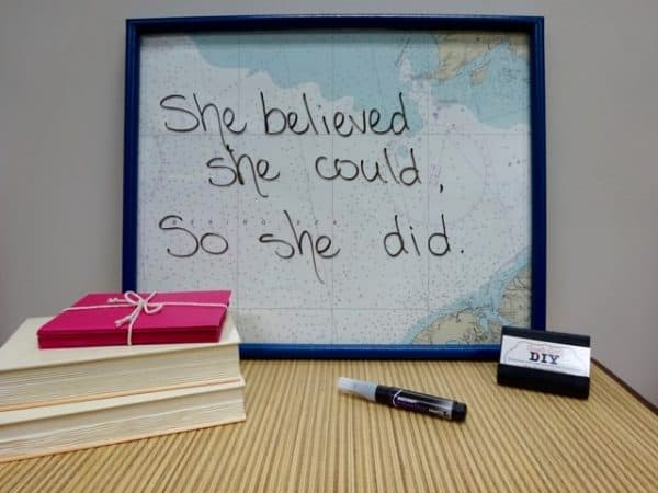 Make a dry erase memo board