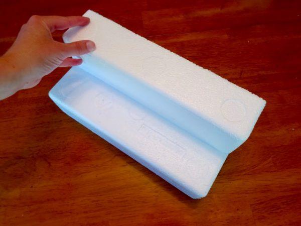 Stacked styrofoam blocks