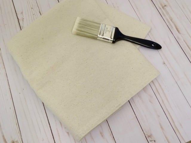 Drop cloth home decor