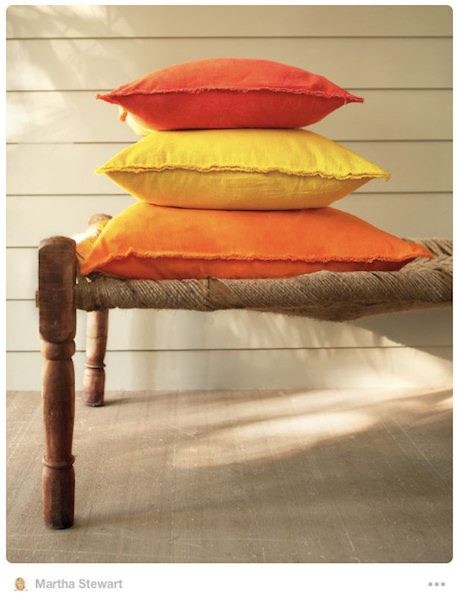 Martha Stewart drop cloth pillows