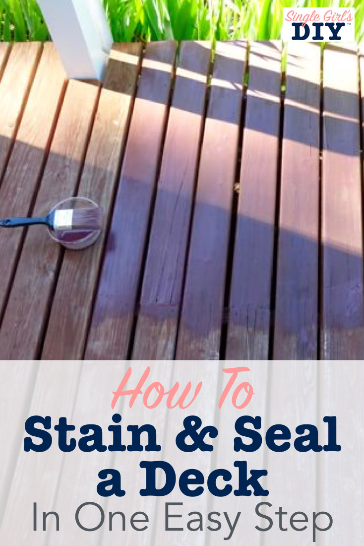 How to stain and seal a deck title image