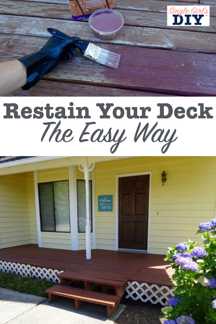 Easy way to restain a deck title image