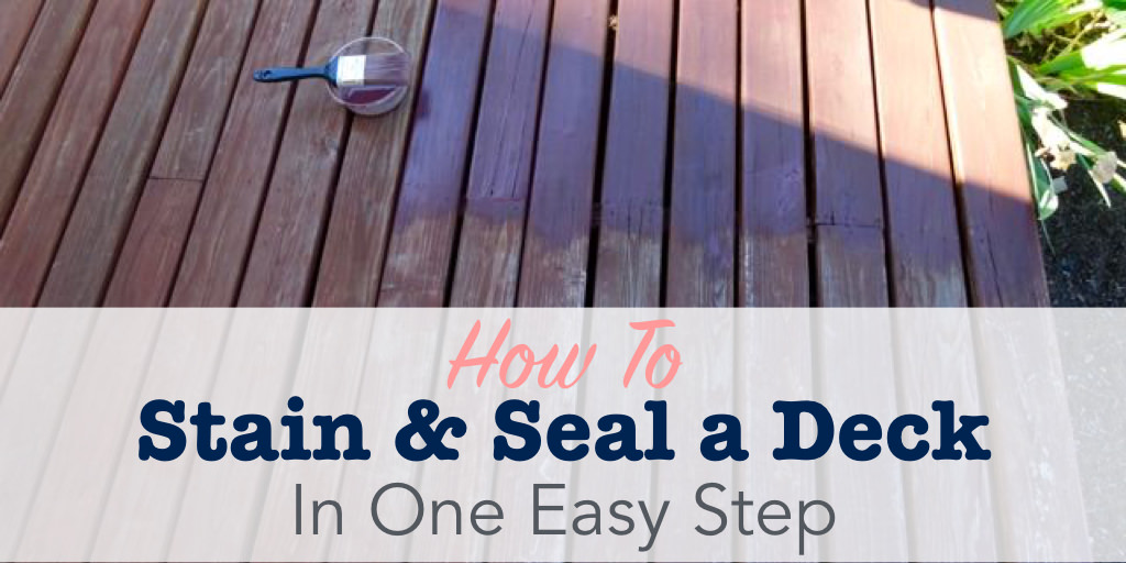 How to stain a deck title image
