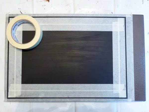Painted sign border