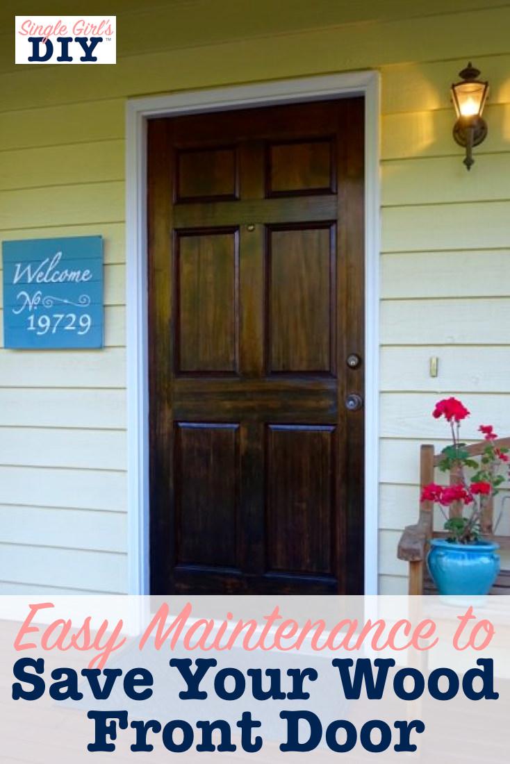 Wood front door maintenance tips