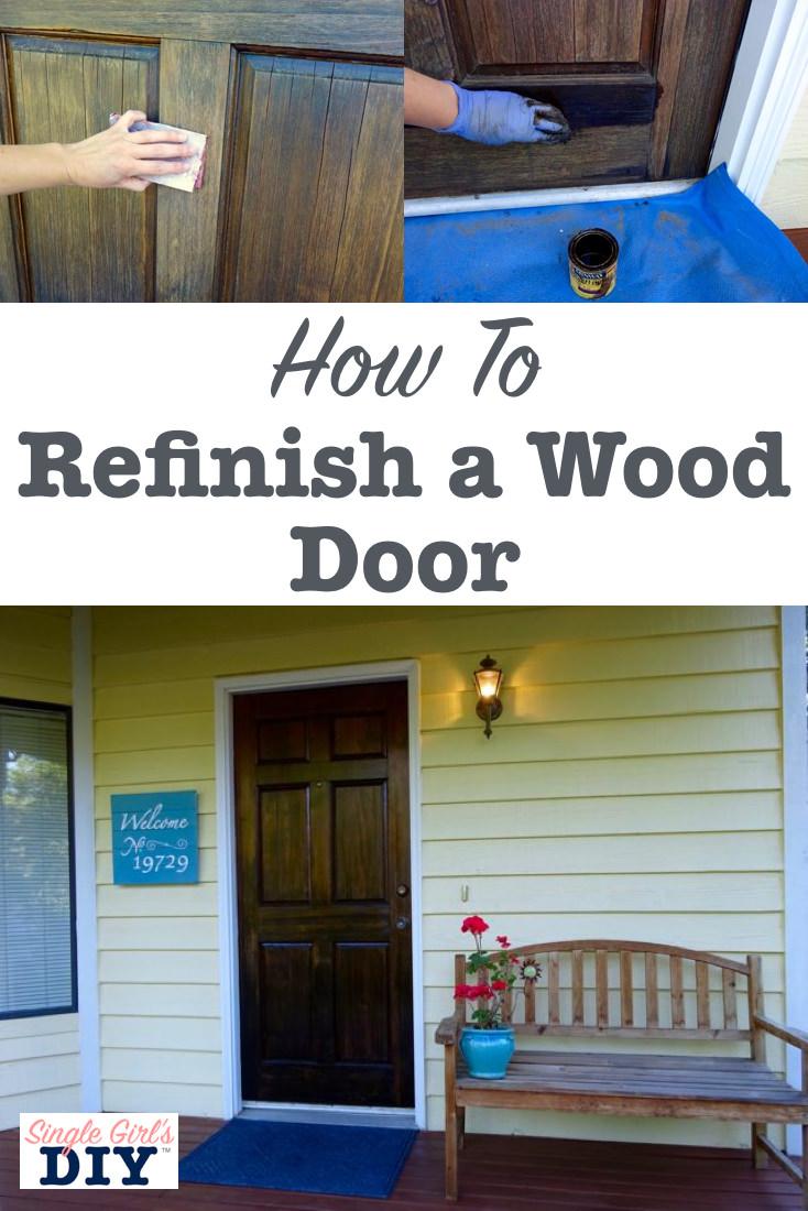 How to refinish a wood door
