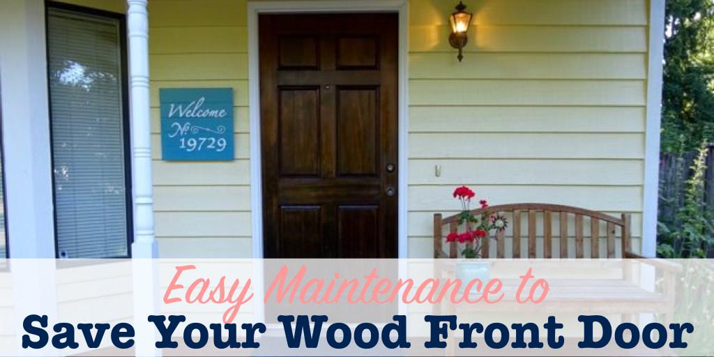 Wood Front Door Maintenance