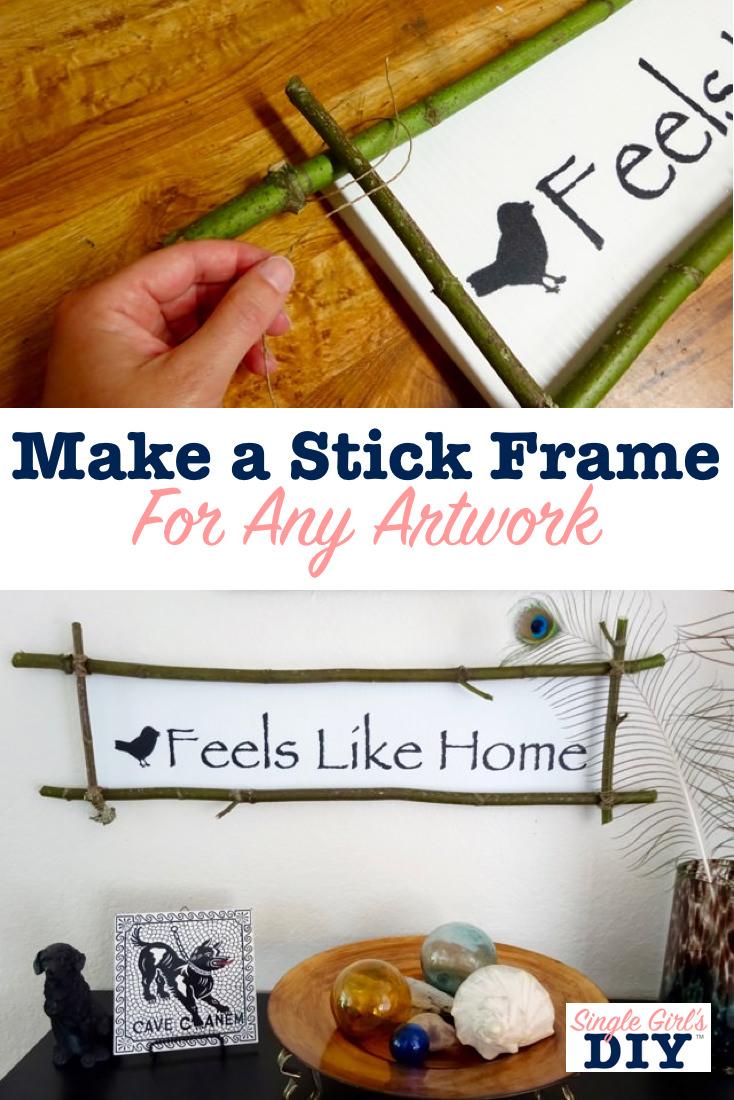 Make a stick frame for any artwork