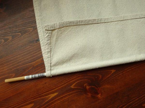 Drop cloth Roman shades
