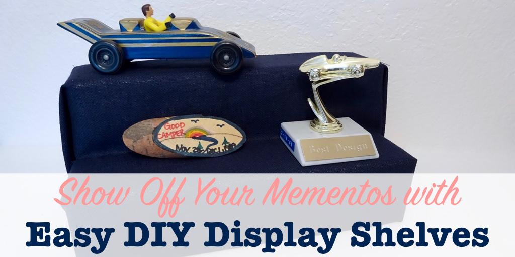 DIY display shelves