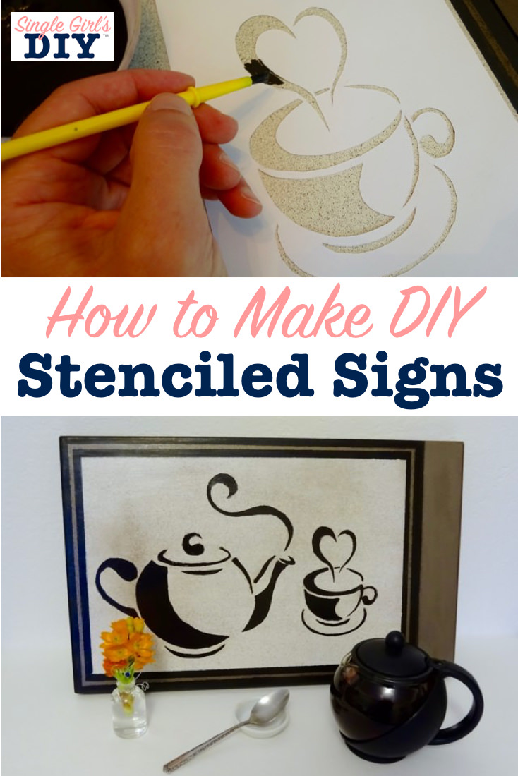 How to make DIY stenciled signs