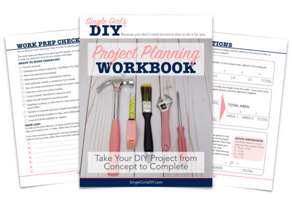 DIY project planning workbook sample
