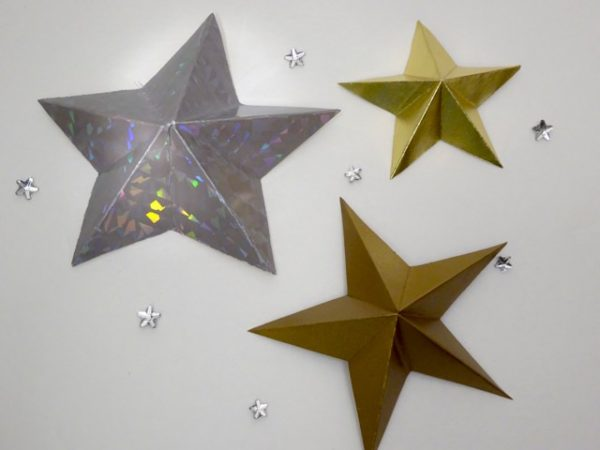 5 point folded paper stars