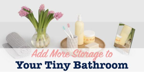 Add bathroom storage