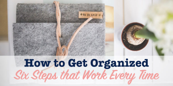 How to get organized title image