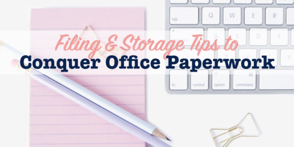 Tips to organize office paperwork title image