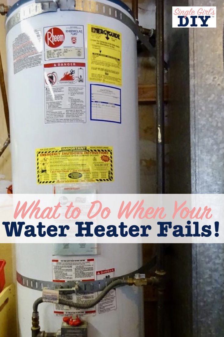 What to do when your hot water heater fails