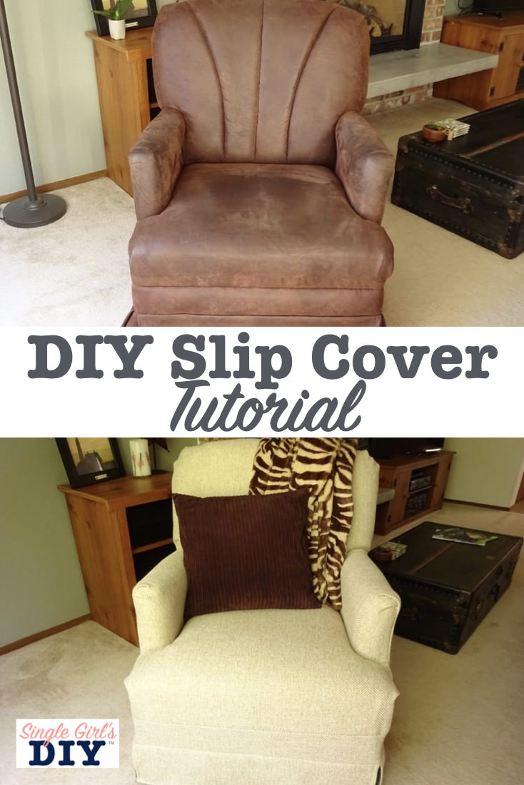DIY slip cover tutorial