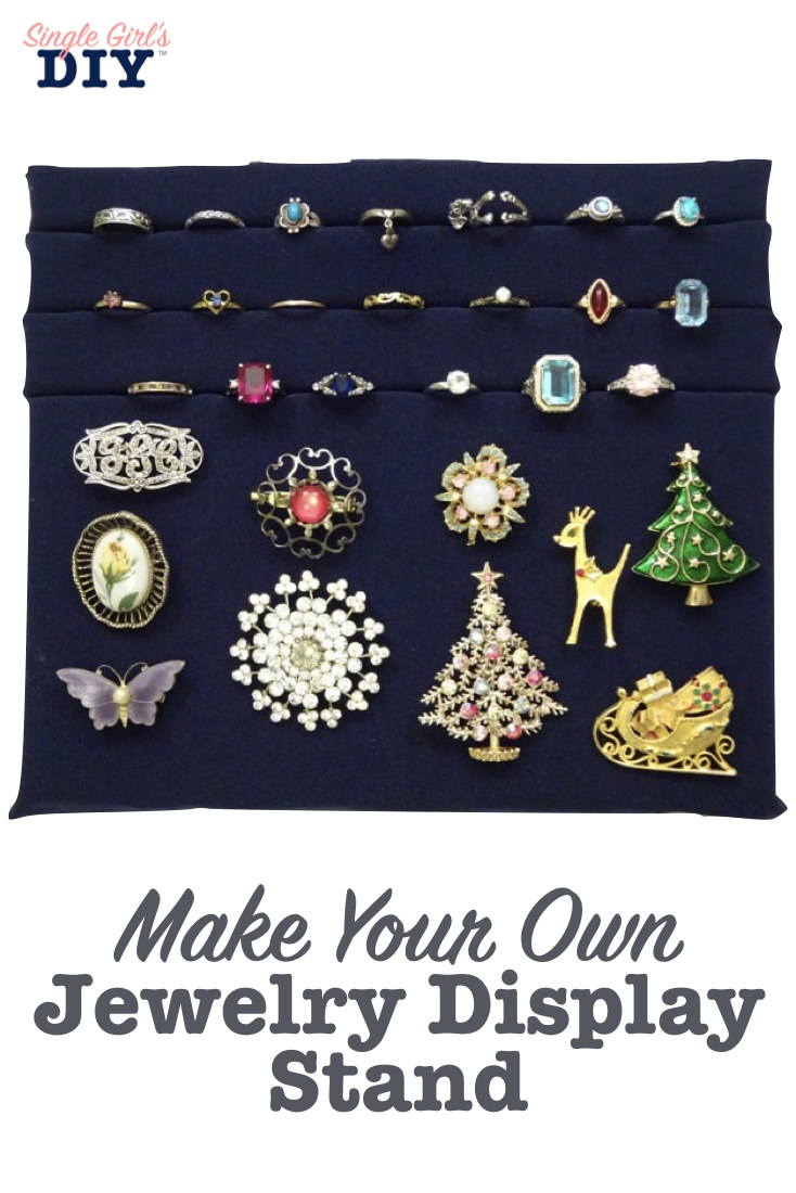 Make your own jewelry display stand