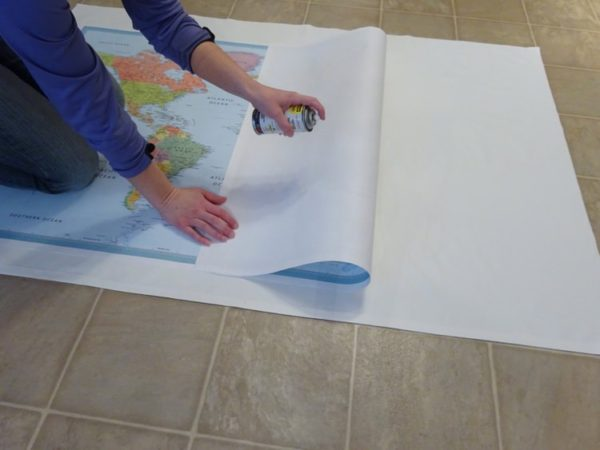 Attach a map to fabric