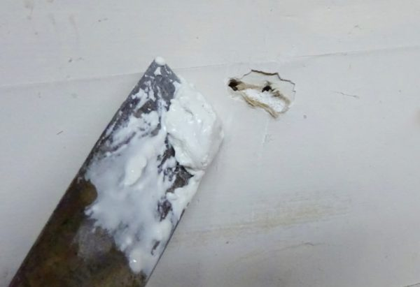 Fix a hole in drywall
