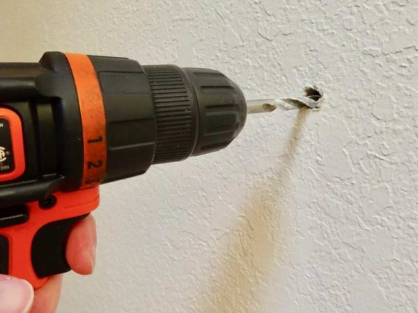 large hole for wall mount hair dryer