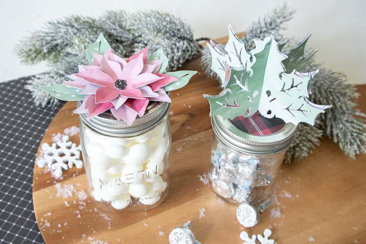 Christmas mason jar topper lids