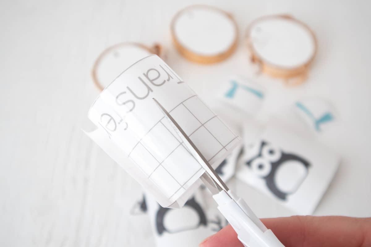 cutting out cricut transfer tape