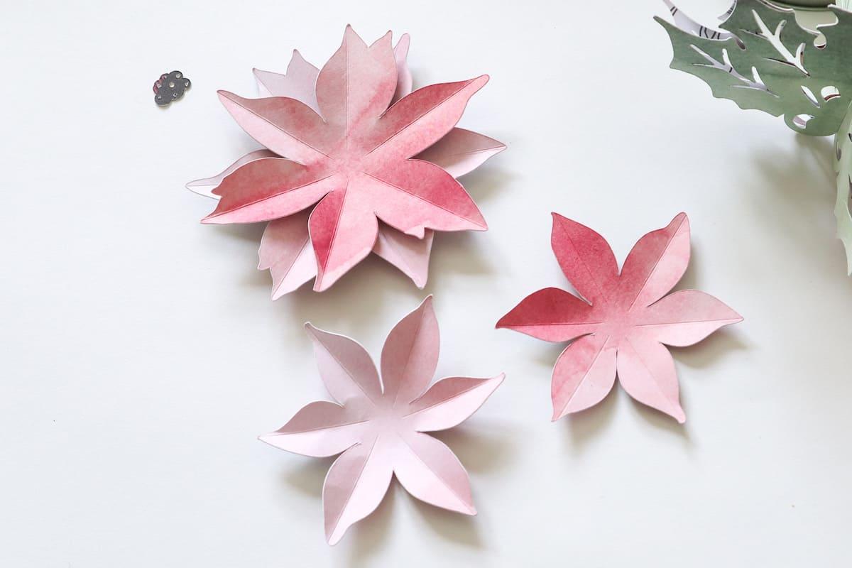 paper 3D poinsettia flowers