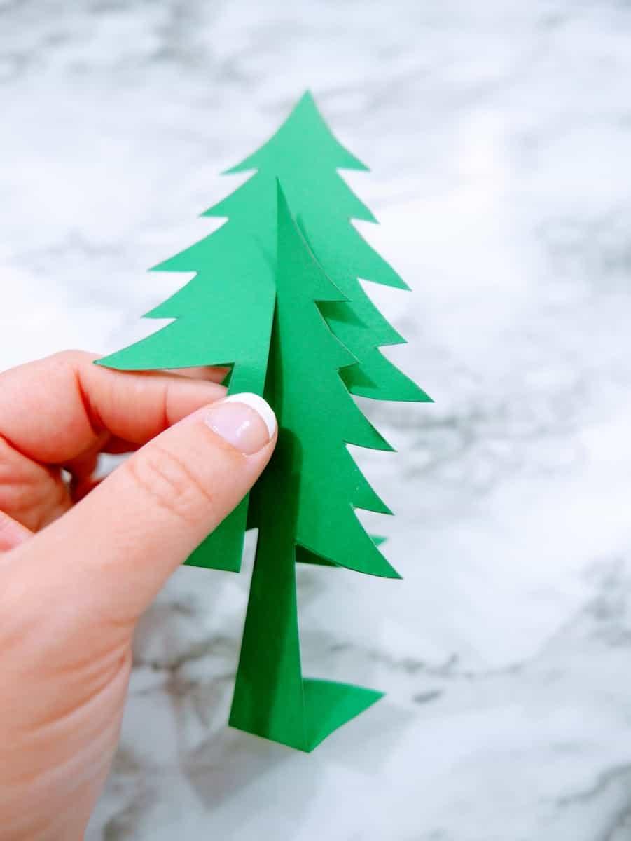 Constructing Paper Christmas Tree