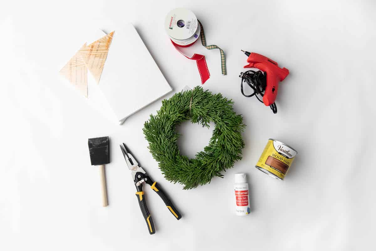 wreath canvas and craft supplies