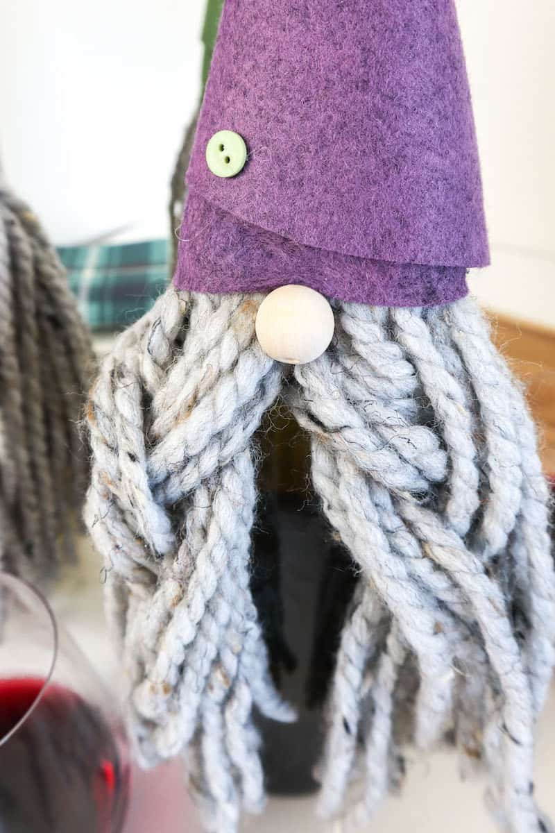 DIY Felt Gnome Wine Bottle cover